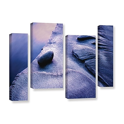 ArtWall 'Rock Sand And Stream' 4-Piece Gallery-Wrapped Canvas Staggered Set 24