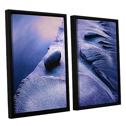 "ArtWall ""Rock Sand And Stream"" 2-Piece Canvas Set 24"" x 32"" Floater Framed (0uhl119b2432f)"