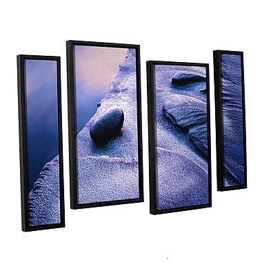 ArtWall 'Rock Sand And Stream' 4-Piece Canvas Staggered Set 24