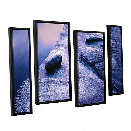 "ArtWall ""Rock Sand And Stream"" 4-Piece Canvas Staggered Set 36"" x 54"" Floater-Framed (0uhl119i3654f)"