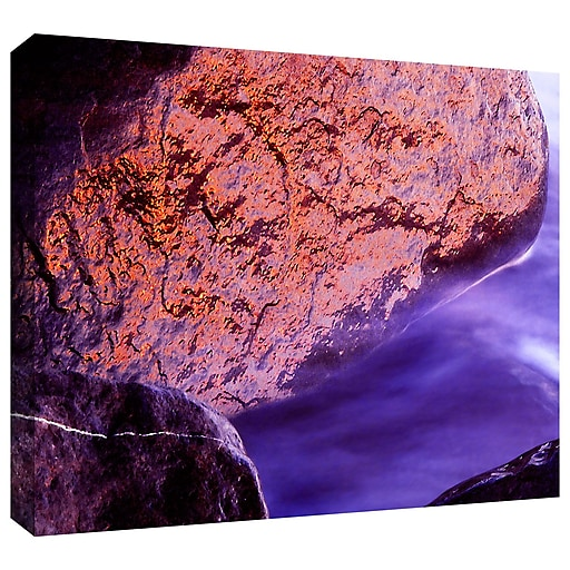 """ArtWall """"Rock Surf And Sunset"""" Gallery-Wrapped Canvas 14"""" x 18"""" (0uhl120a1418w)"""
