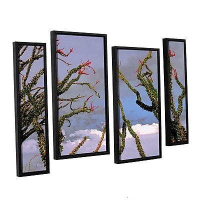 ArtWall 'Yuma Desert Spring' 4-Piece Canvas Staggered Set 24