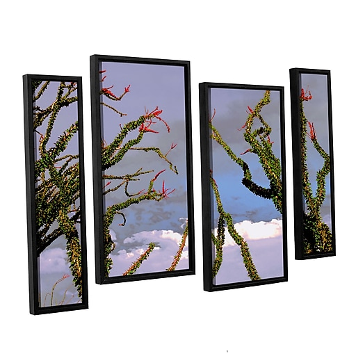"ArtWall ""Yuma Desert Spring"" 4-Piece Canvas Staggered Set 36"" x 54"" Floater-Framed (0uhl121i3654f)"