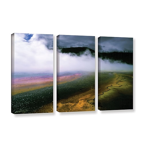 """ArtWall 'Approaching Storm' 3-Piece Gallery-Wrapped Canvas Set 36"""" x 54"""" (0uhl123c3654w)"""