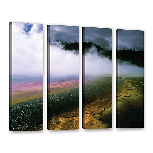 """ArtWall 'Approaching Storm' 4-Piece Gallery-Wrapped Canvas Set 36"""" x 48"""" (0uhl123d3648w)"""