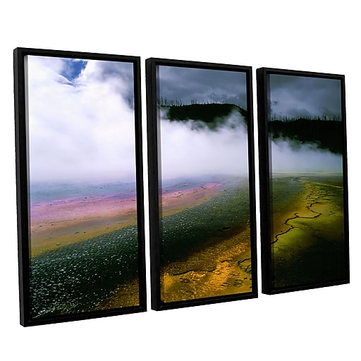 "ArtWall ""Approaching Storm"" 3-Piece Canvas Set 36"" x 54"" Floater Framed (0uhl123c3654f)"