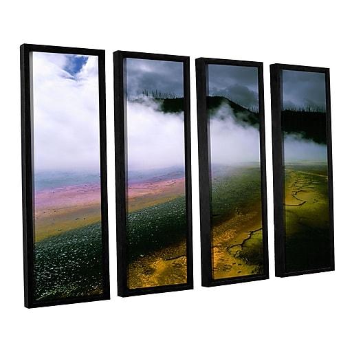 "ArtWall 'Approaching Storm' 4-Piece Canvas Set 36"" x 48"" Floater-Framed (0uhl123d3648f)"