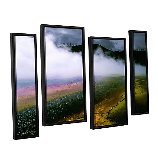 """ArtWall 'Approaching Storm' 4-Piece Canvas Staggered Set 36"""" x 54"""" Floater-Framed (0uhl123i3654f)"""