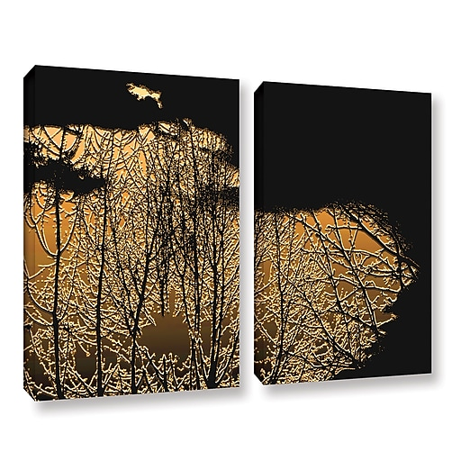 "ArtWall ""Break In The Storm"" 2-Piece Gallery-Wrapped Canvas Set 24"" x 36"" (0uhl126b2436w)"