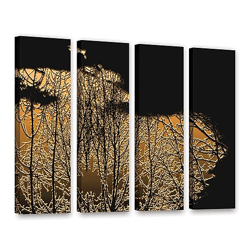 "ArtWall 'Break In The Storm' 4-Piece Gallery-Wrapped Canvas Set 36"" x 48"" (0uhl126d3648w)"