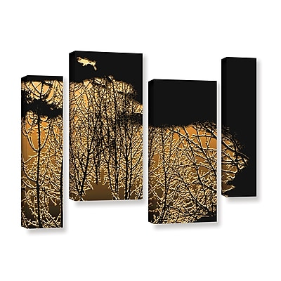ArtWall 'Break In The Storm' 4-Piece Gallery-Wrapped Canvas Staggered Set 36