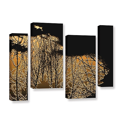 """ArtWall 'Break In The Storm' 4-Piece Gallery-Wrapped Canvas Staggered Set 36"""" x 54"""" (0uhl126i3654w)"""