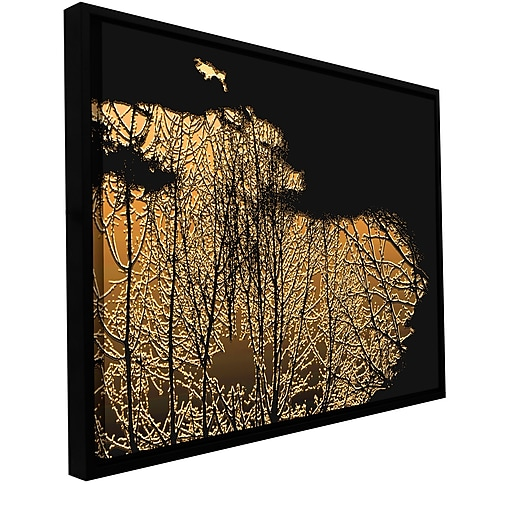 "ArtWall ""Break In The Storm"" Gallery-Wrapped Canvas 18"" x 24"" Floater-Framed (0uhl126a1824f)"