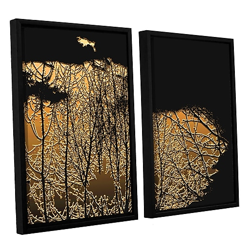 "ArtWall 'Break In The Storm' 2-Piece Canvas Set 24"" x 32"" Floater-Framed (0uhl126b2432f)"
