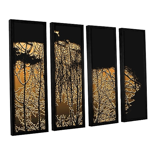 "ArtWall 'Break In The Storm' 4-Piece Canvas Set 24"" x 32"" Floater-Framed (0uhl126d2432f)"