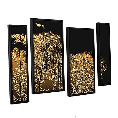 ArtWall 'Break In The Storm' 4-Piece Canvas Staggered Set 24