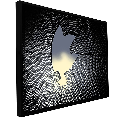 "ArtWall ""Broken Peace"" Gallery-Wrapped Canvas 18"" x 24"" Floater-Framed (0uhl127a1824f)"