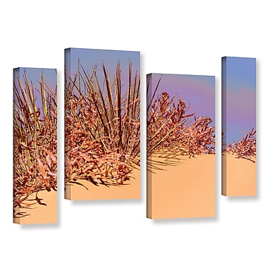 ArtWall 'Coral Dunes Noon' 4-Piece Gallery-Wrapped Canvas Staggered Set 24