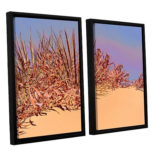 "ArtWall 'Coral Dunes Noon' 2-Piece Canvas Set 24"" x 32"" Floater Framed (0uhl129b2432f)"