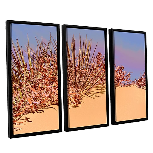 "ArtWall ""Coral Dunes Noon"" 3-Piece Canvas Set 36"" x 54"" Floater-Framed (0uhl129c3654f)"