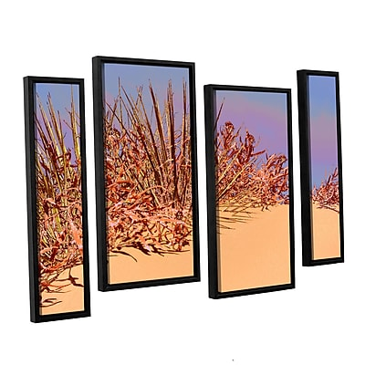 ArtWall 'Coral Dunes Noon' 4-Piece Canvas Staggered Set 24