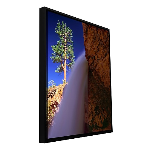 "ArtWall 'Creek Fall At Bryce' Gallery-Wrapped Canvas 18"" x 24"" Floater-Framed (0uhl130a1824f)"