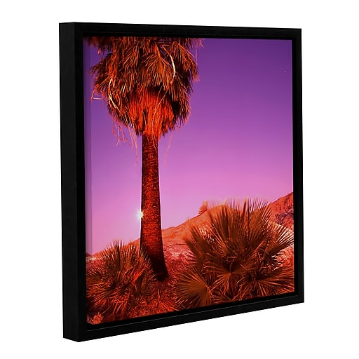 """ArtWall 'Desert Moon' Gallery-Wrapped Canvas 14"""" x 14"""" Floater-Framed (0uhl131a1414f)"""