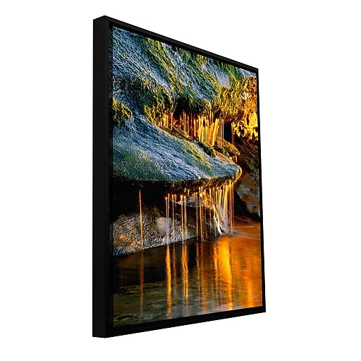 "ArtWall 'Dripping Sunlight' Gallery-Wrapped Canvas 14"" x 18"" Floater-Framed (0uhl132a1418f)"