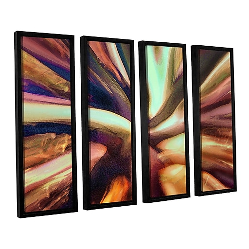 "ArtWall 'Espectro Suculenta' 4-Piece Canvas Set 36"" x 48"" Floater-Framed (0uhl133d3648f)"