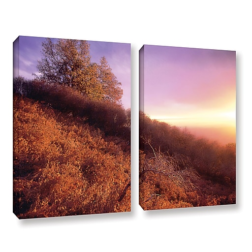 "ArtWall 'Fire Light' 2-Piece Gallery-Wrapped Canvas Set 36"" x 48"" (0uhl134b3648w)"