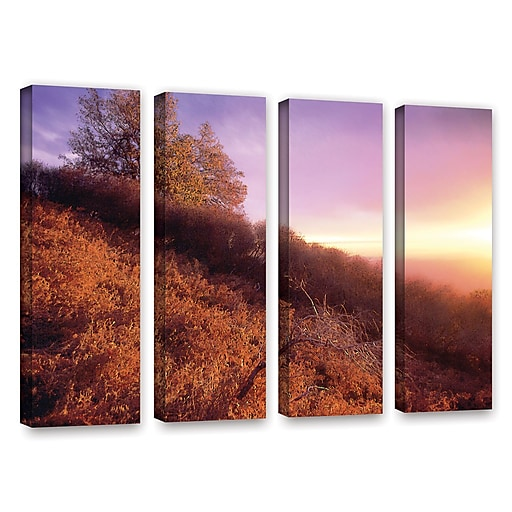 "ArtWall ""Fire Light"" 4-Piece Gallery-Wrapped Canvas Set 36"" x 48"" (0uhl134d3648w)"
