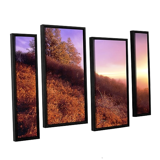 "ArtWall ""Fire Light"" 4-Piece Canvas Staggered Set 24"" x 36"" Floater-Framed (0uhl134i2436f)"
