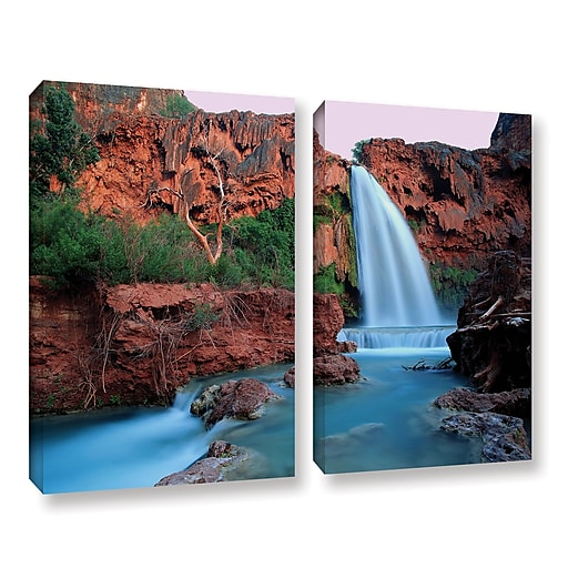 "ArtWall 'Havasu Falls Dusk' 2-Piece Gallery-Wrapped Canvas Set 18"" x 24"" (0uhl135b1824w)"