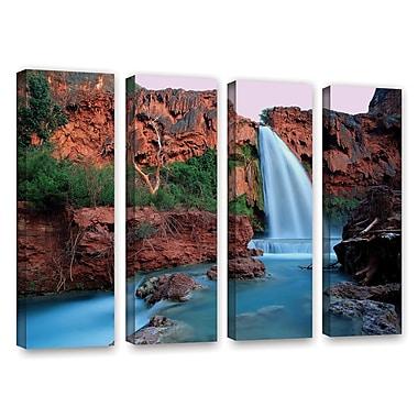 ArtWall 'Havasu Falls Dusk' 4-Piece Gallery-Wrapped Canvas Set 24