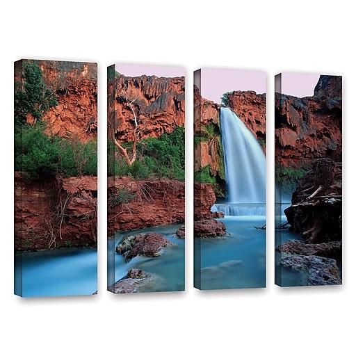 "ArtWall 'Havasu Falls Dusk' 4-Piece Gallery-Wrapped Canvas Set 24"" x 32"" (0uhl135d2432w)"