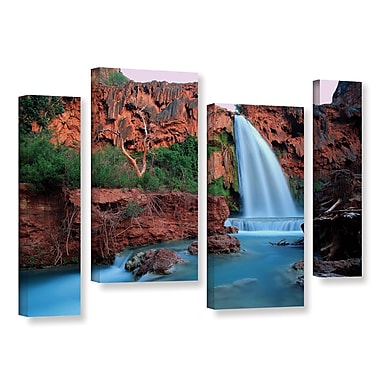 ArtWall 'Havasu Falls Dusk' 4-Piece Gallery-Wrapped Canvas Staggered Set 24