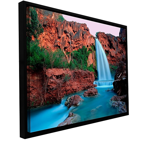 "ArtWall 'Havasu Falls Dusk' Gallery-Wrapped Canvas 18"" x 24"" Floater-Framed (0uhl135a1824f)"