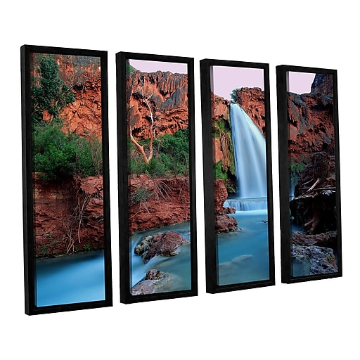 "ArtWall ""Havasu Falls Dusk"" 4-Piece Canvas Set 24"" x 32"" Floater-Framed (0uhl135d2432f)"
