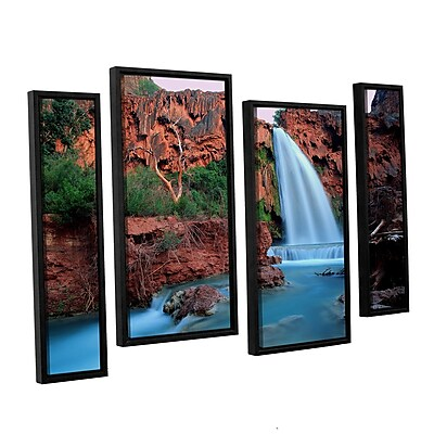 ArtWall 'Havasu Falls Dusk' 4-Piece Canvas Staggered Set 36