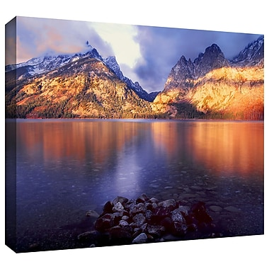 ArtWall 'Jenny Lake Sunrise' Gallery-Wrapped Canvas 36