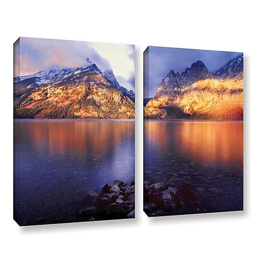 "ArtWall 'Jenny Lake Sunrise' 2-Piece Gallery-Wrapped Canvas Set 18"" x 24"" (0uhl136b1824w)"