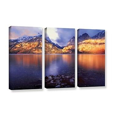 ArtWall 'Jenny Lake Sunrise' 3-Piece Gallery-Wrapped Canvas Set 36