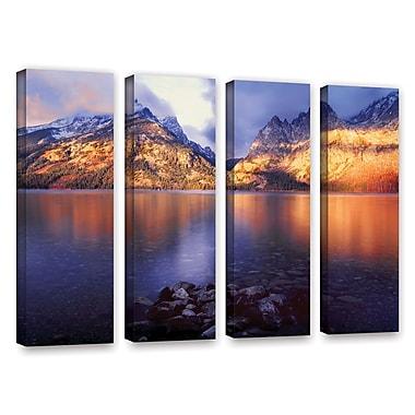 ArtWall 'Jenny Lake Sunrise' 4-Piece Gallery-Wrapped Canvas Set 24