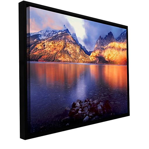 "ArtWall 'Jenny Lake Sunrise' Gallery-Wrapped Canvas 14"" x 18"" Floater-Framed (0uhl136a1418f)"