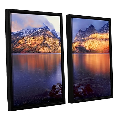 ArtWall 'Jenny Lake Sunrise' 2-Piece Canvas Set 24