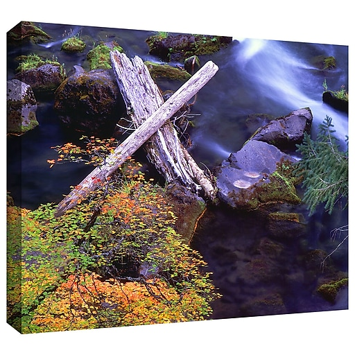 """ArtWall 'Rogue River Falls' Gallery-Wrapped Canvas 18"""" x 24"""" (0uhl137a1824w)"""