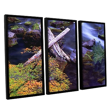 ArtWall 'Rogue River Falls' 3-Piece Canvas Set 36