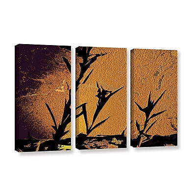 ArtWall 'Shadow Rock' 3-Piece Gallery-Wrapped Canvas Set 36