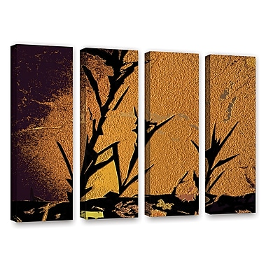 ArtWall 'Shadow Rock' 4-Piece Gallery-Wrapped Canvas Set 36
