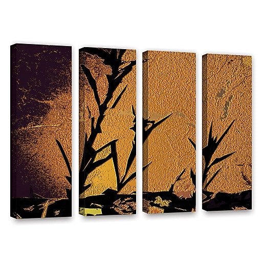 "ArtWall 'Shadow Rock' 4-Piece Gallery-Wrapped Canvas Set 36"" x 48"" (0uhl138d3648w)"